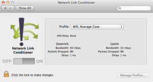Network Link Conditioner Screengrab